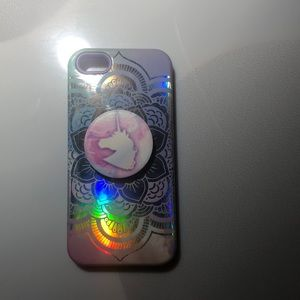 Other - phone case with unicorn pop socket